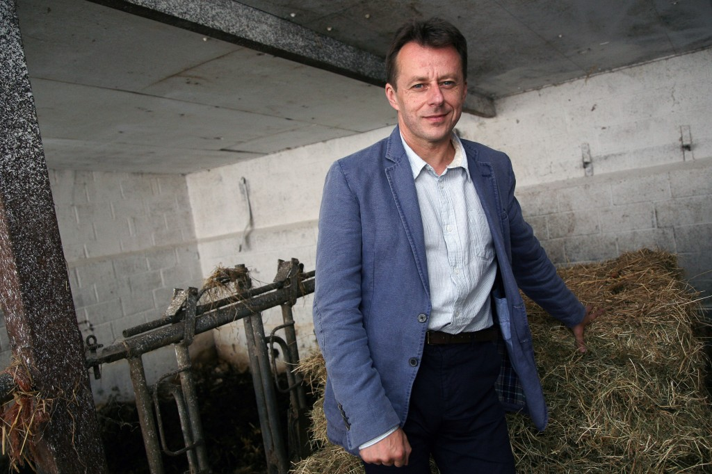 BELGIUM VISIT OF THE MINISTER OF THE AGRICULTURE CARLO DI-ANTONIO RAGNIES FARM