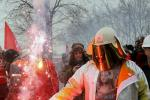 FRANCE ARCELORMITTAL WORKERS PROTEST IN STRASBOURG